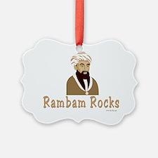 Rambam Rocks Black flat Ornament