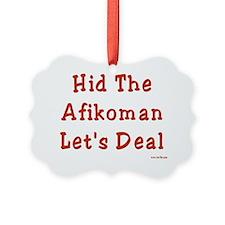 Hid Afikoman flat Ornament