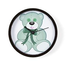 Light Green Baby Teddy Bear Wall Clock
