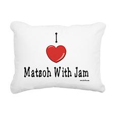 I Love Matzoh WIth Jam Rectangular Canvas Pillow