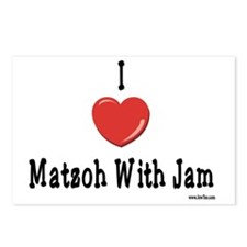 I Love Matzoh WIth Jam Postcards (Package of 8)