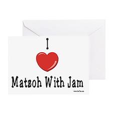 I Love Matzoh WIth Jam Greeting Card