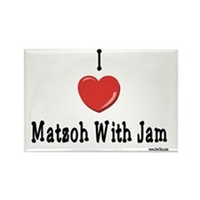 I Love Matzoh WIth Jam Rectangle Magnet