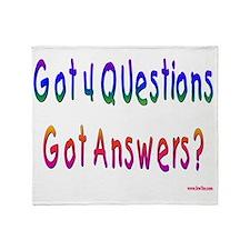 Got 4 Questions Throw Blanket