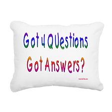 Got 4 Questions Rectangular Canvas Pillow