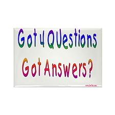Got 4 Questions Rectangle Magnet