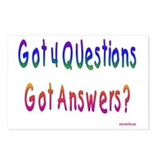 Got 4 Questions Postcards (Package of 8)