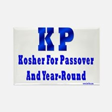 Kosher For Passover and Year Roun Rectangle Magnet
