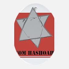 Holocaust 3 Oval Ornament