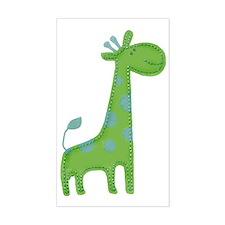 Green Giraffe Fabric Applique Decal