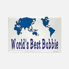 Worlds Best Bubbie Rectangle Magnet