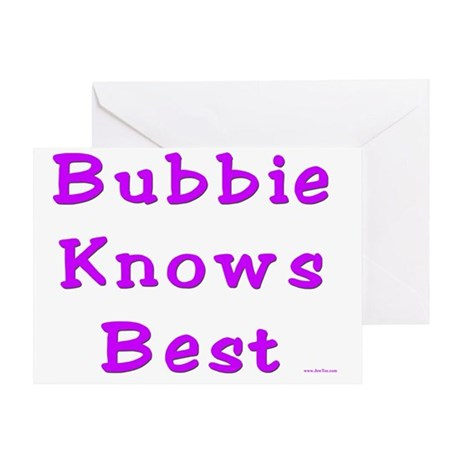 Bubbie Knows Best Greeting Card