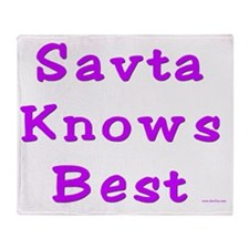 savta knows best Throw Blanket
