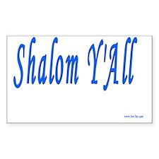 Shalom YAll Decal