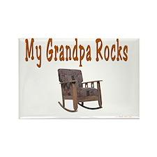 My Grandpa Rocks Rectangle Magnet