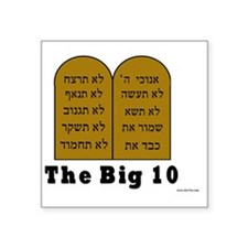 "Big 10 Square Sticker 3"" x 3"""