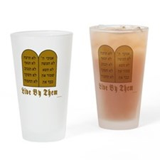 Live by them Drinking Glass
