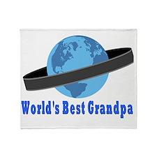 Worlds Best Grandpa Throw Blanket