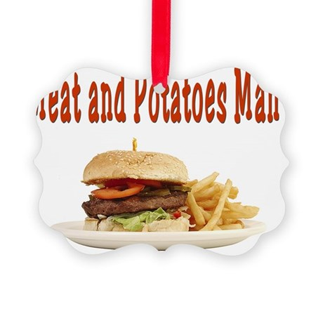 Meat and Potatoes Man Picture Ornament