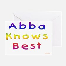 Abba Knows Best Greeting Card