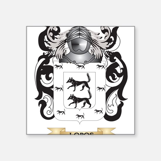 Lobos Coat of Arms - Family Crest Sticker