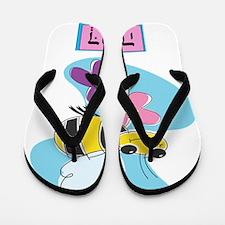 Hebrew Bee Flip Flops