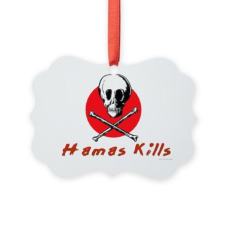 Hamas Kills Picture Ornament