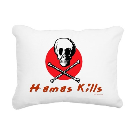 Hamas Kills Rectangular Canvas Pillow