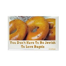 Love Bagels Rectangle Magnet