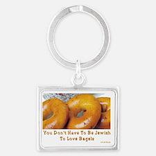Love Bagels Landscape Keychain