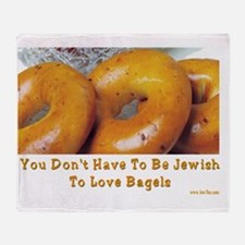 Love Bagels Throw Blanket