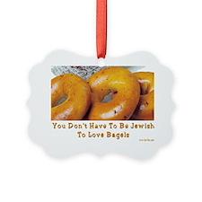 Love Bagels Picture Ornament