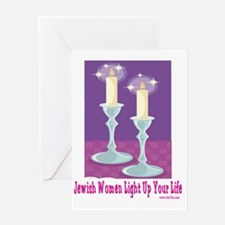 Jewish Women Light Up Your Life Greeting Card