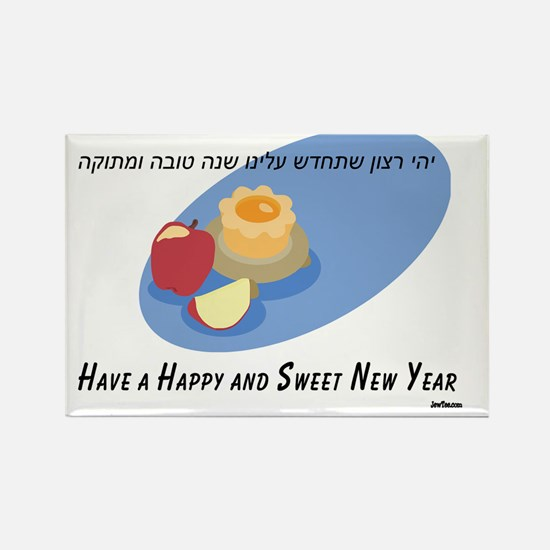 Sweet New Year Rectangle Magnet