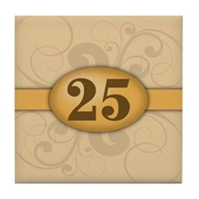 25th Birthday / Anniversary Tile Coaster