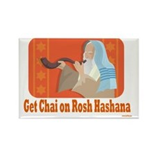 Get Chai Rosh Hashana Rectangle Magnet