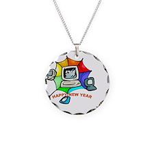 Jewish New Year Web Necklace