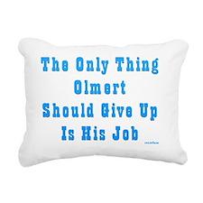 Olmert Give Up Job Rectangular Canvas Pillow