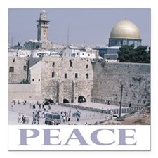 "Peace Square Car Magnet 3"" x 3"""