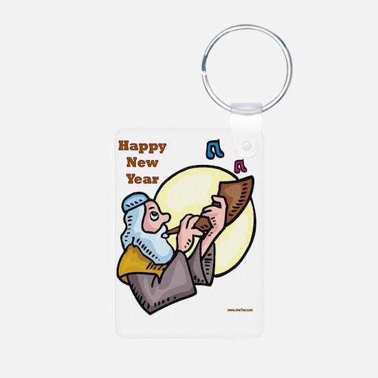 Happy Jewish New Year Shof Keychains