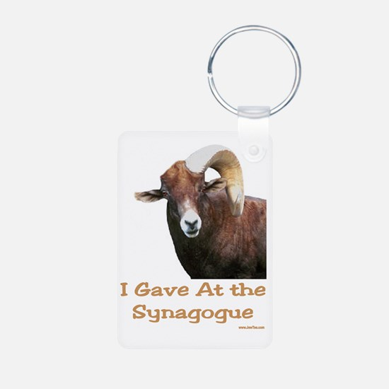I Gave at the Synagogue Keychains