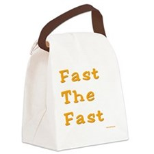 Fast the Fast Canvas Lunch Bag