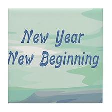 New Year New Beginning Tile Coaster