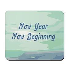 New Year New Beginning Mousepad