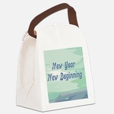 New Year New Beginning Canvas Lunch Bag
