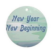 New Year New Beginning Round Ornament