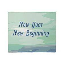 New Year New Beginning Throw Blanket