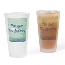 New Year New Beginning Drinking Glass