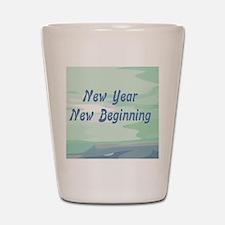 New Year New Beginning Shot Glass