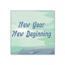"New Year New Beginning Square Sticker 3"" x 3"""